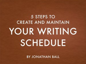 cover for 5 steps to your writing schedule
